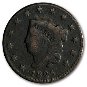1825 Large Cent VG