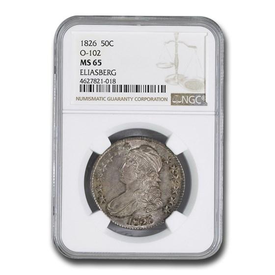 1826 Bust Half Dollar MS-65 NGC (O-102)