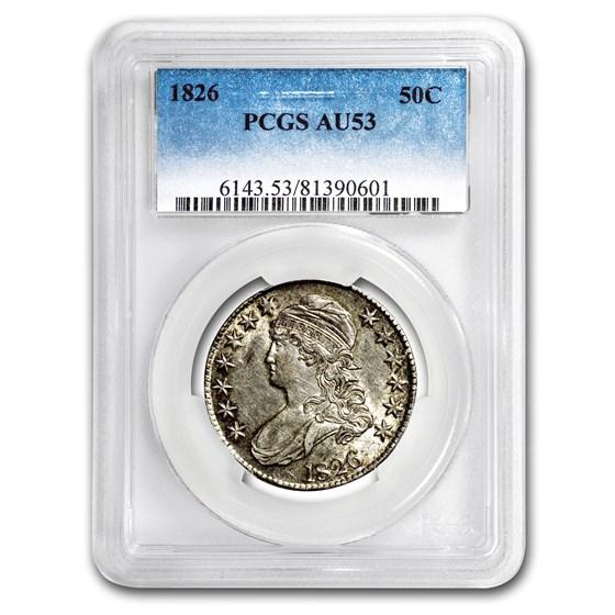 1826 Capped Bust Half Dollar AU-53 PCGS