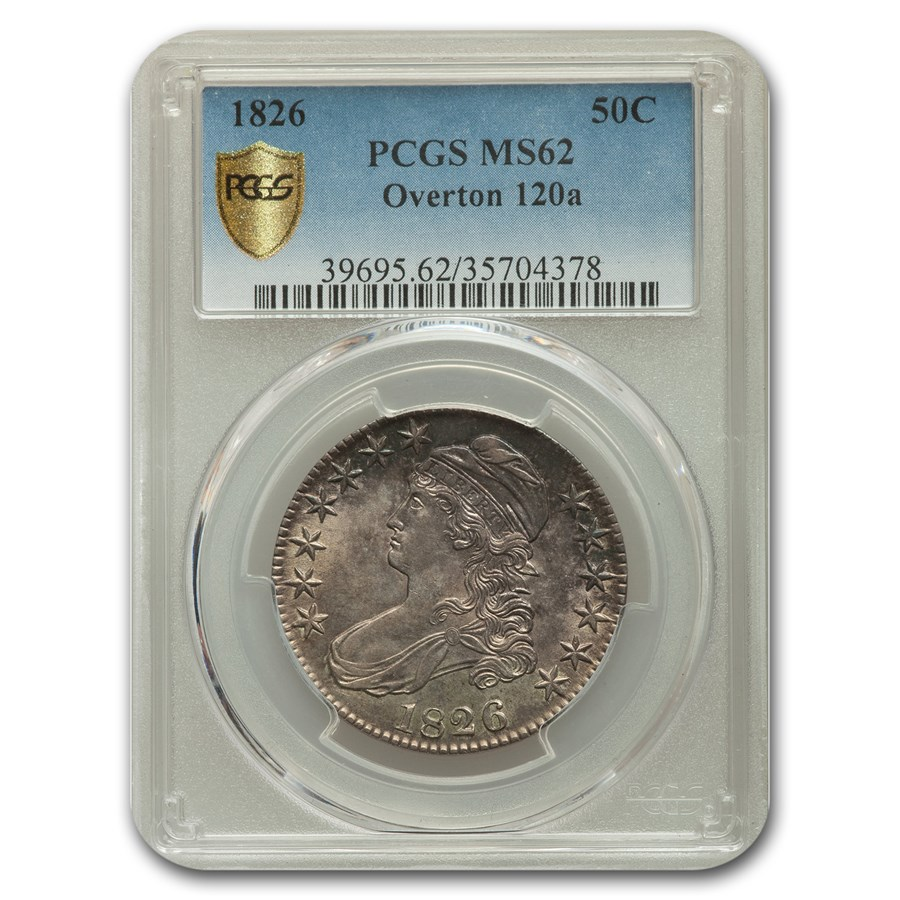 1826 Capped Bust Half Dollar MS-62 PCGS (Overton 120a)