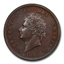 1826 Great Britain Bronzed Copper Penny George IV PR-63 PCGS
