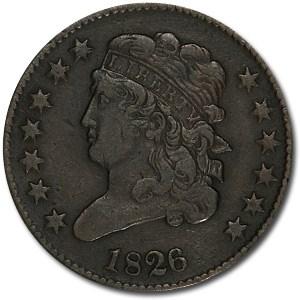 1826 Half Cent XF