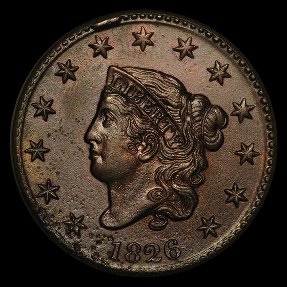 1826 Large Cent AU Details