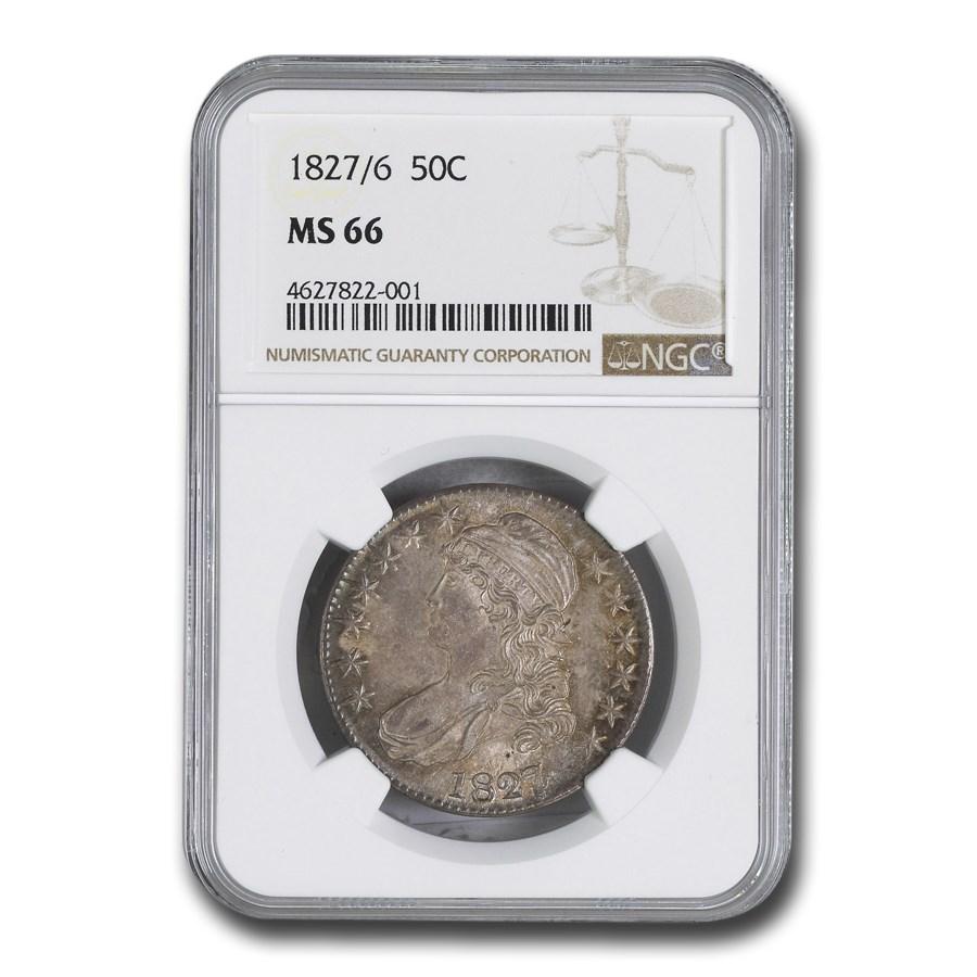1827/6 Bust Half Dollar MS-66 NGC