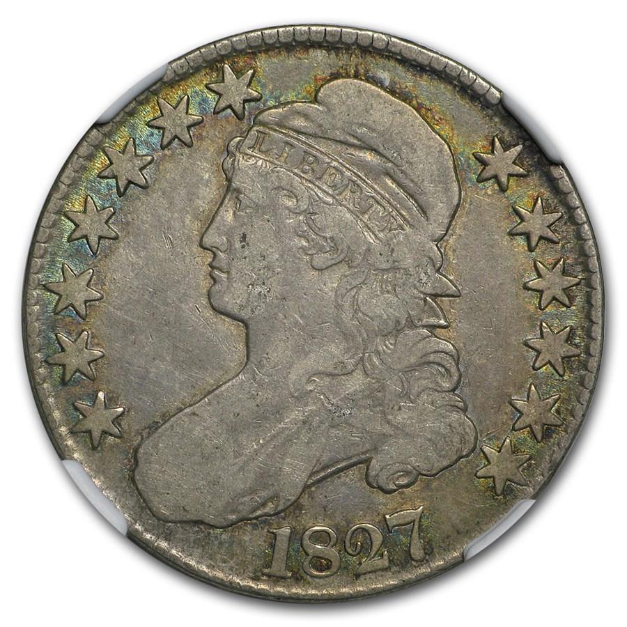1827 Bust Half Dollar VF (Square Base 2)