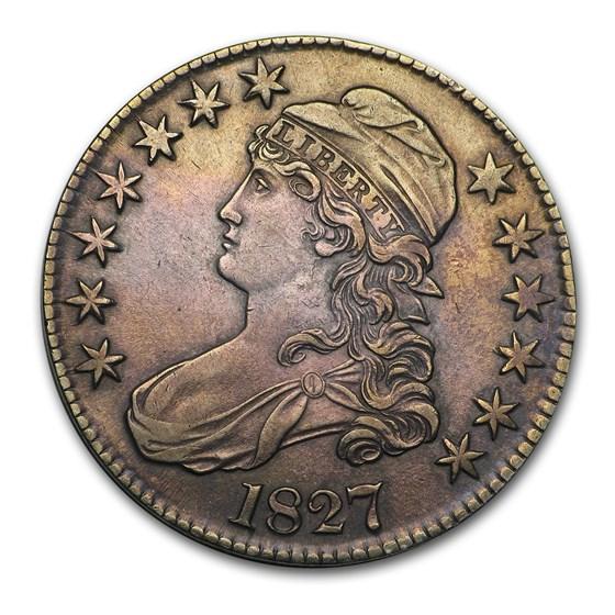 1827 Capped Bust Half Dollar AU