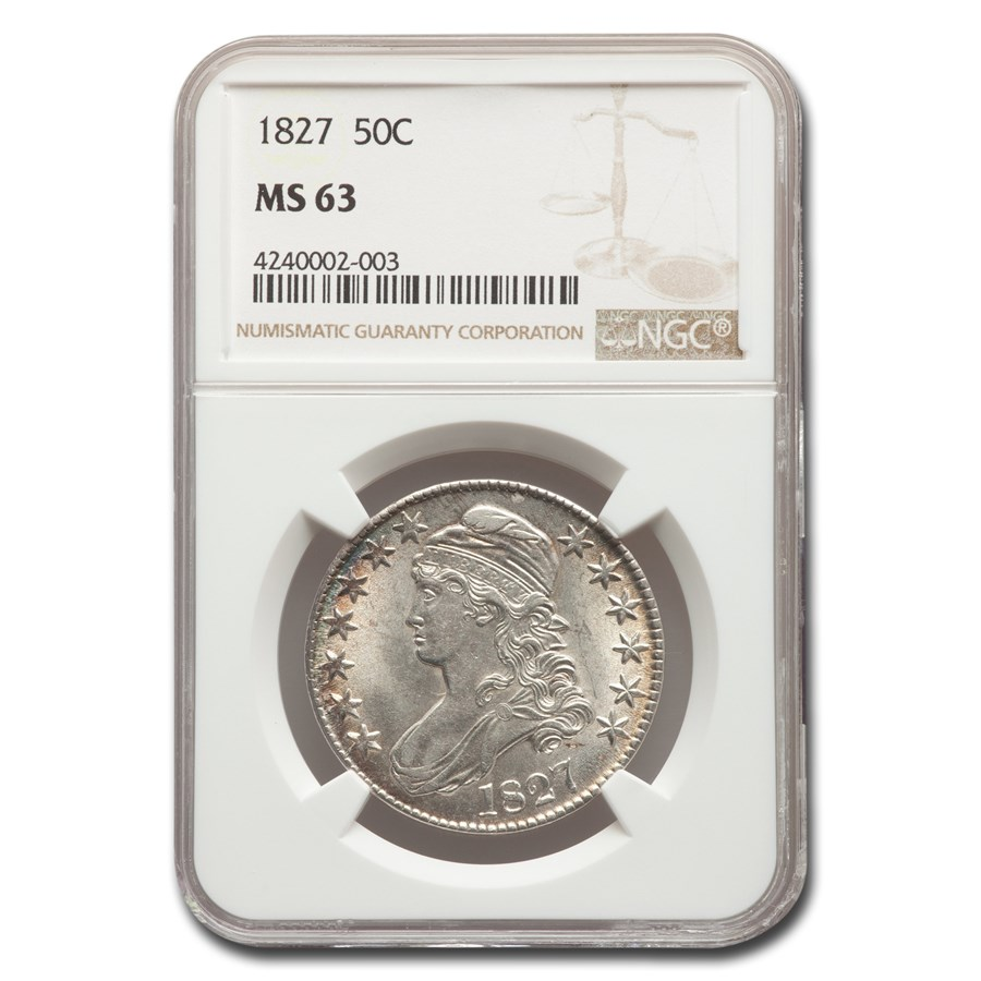 1827 Capped Bust Half Dollar MS-63 NGC