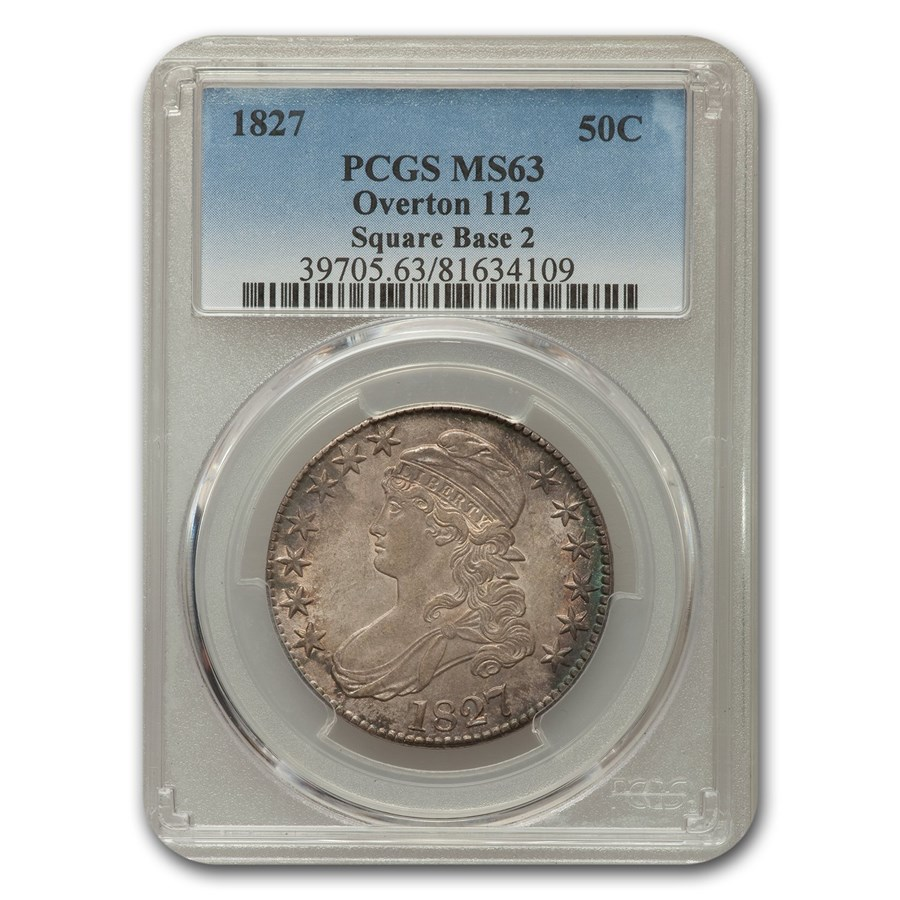 1827 Capped Bust Half Dollar MS-63 PCGS (Sq Base 2)