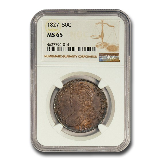 1827 Capped Bust Half Dollar MS-65 NGC