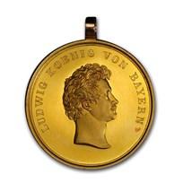 1827 German States Bavaria Gold 10 Ducat Medal SP-63 PCGS