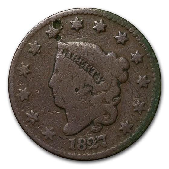1827 Large Cent Good Details