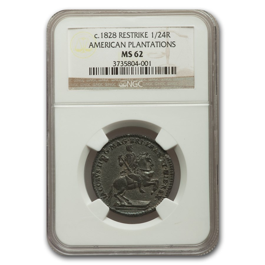 1828 American Plantation Restrike 1/24 Real MS-62 NGC
