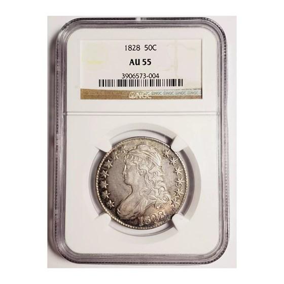 1828 Capped Bust Half Dollar AU-55 NGC