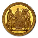 1828 Germany Hamburg Gold Medal Civic Constitution SP-62 PCGS