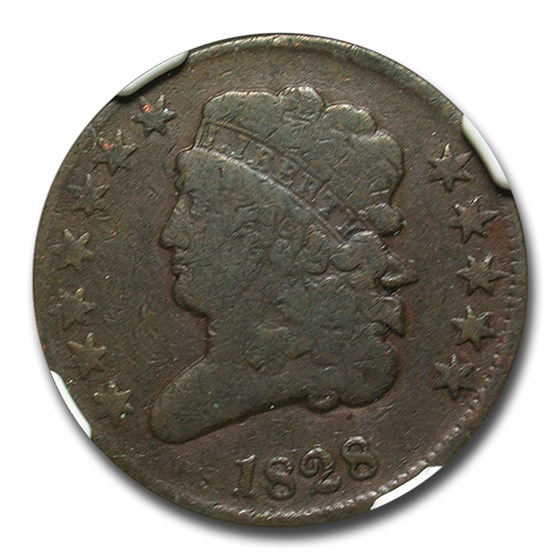 1828 Half Cent VG-10 NGC