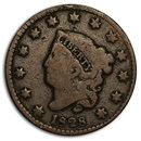 1828 Large Cent Small Date VG