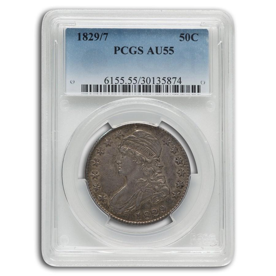 1829/7 Capped Bust Half Dollar AU-55 PCGS