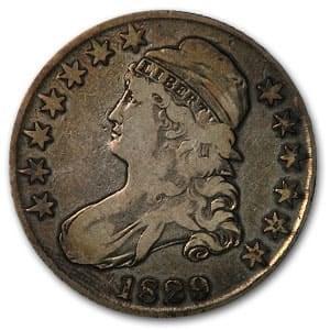 1829 Bust Half Dollar Fine (Sm Letters)