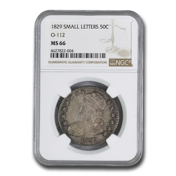 1829 Bust Half Dollar MS-66 NGC (O-112, Sm Letters)