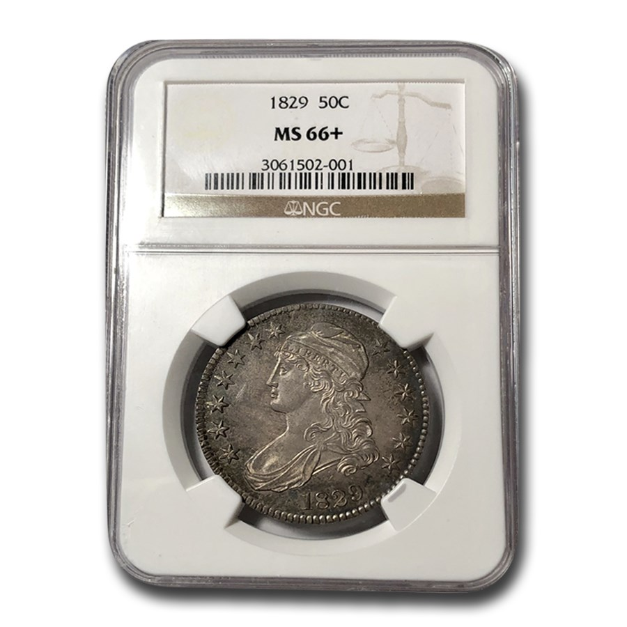 1829 Bust Half Dollar MS-66+ NGC (Sm Letters)