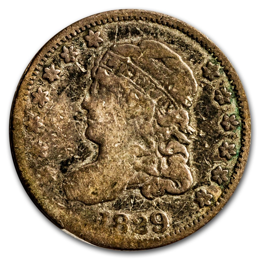 1829 Capped Bust Half Dime Good