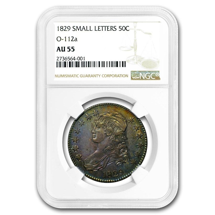 1829 Capped Bust Half Dollar AU-55 NGC