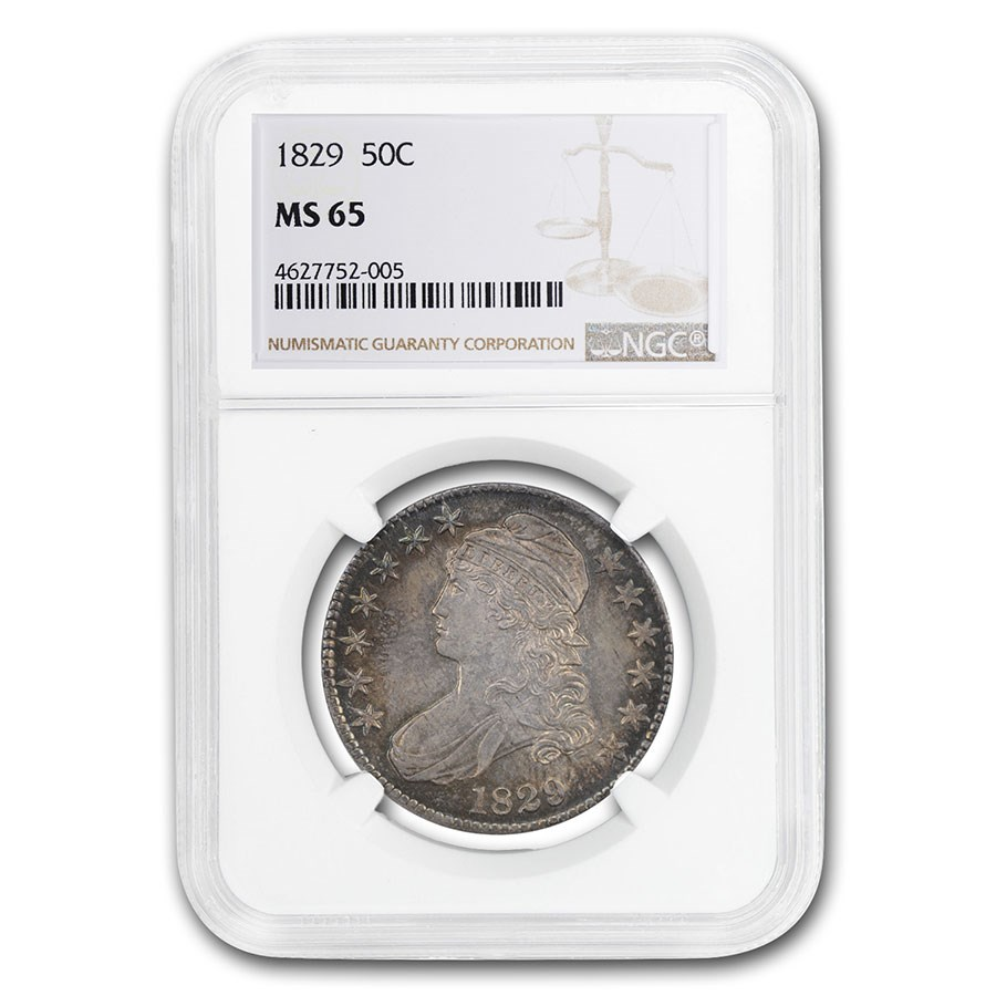 1829 Capped Bust Half Dollar MS-65 NGC