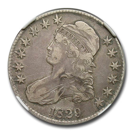 1829 Capped Bust Half Dollar VF-25 NGC (Small Letters O-105)
