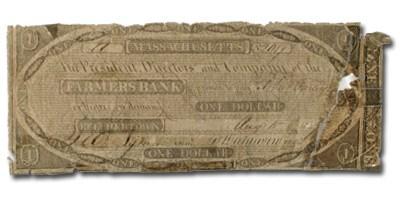 1829 Farmers Bank, Belchertown, MA $1 MA-75, VG Details