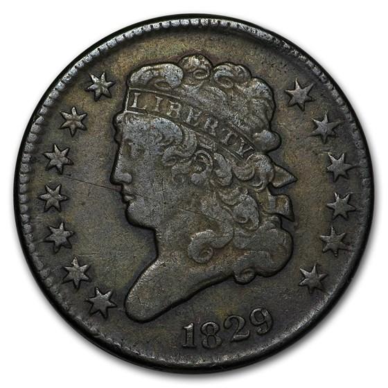 1829 Half Cent VF