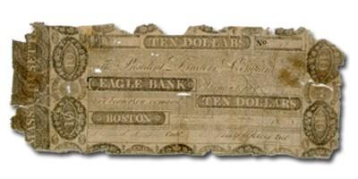 1830 $10 The Eagle Bank of Boston,MA MA-165 VG Counterfeit