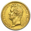 1830-1831 France Gold 20 Francs Louis Philippe I (Avg Circ)