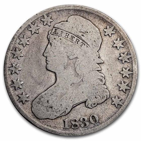 1830 Bust Half Dollar Good (Small 0)