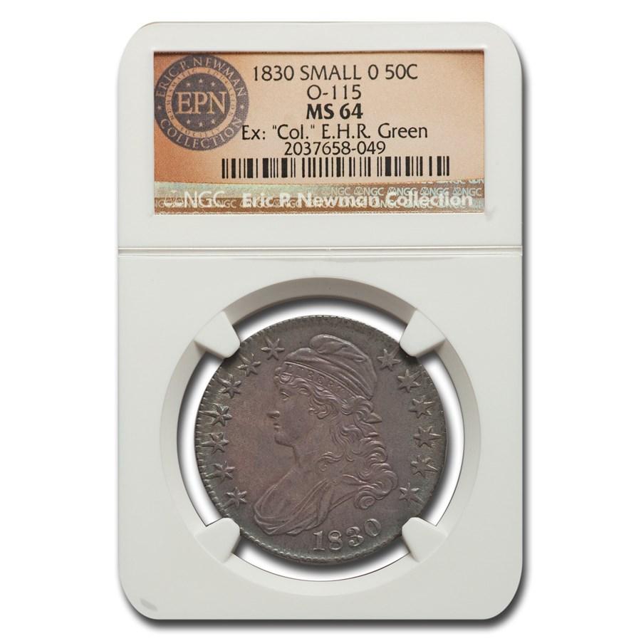 1830 Bust Half Dollar MS-64 NGC ( Small 0, O-115)