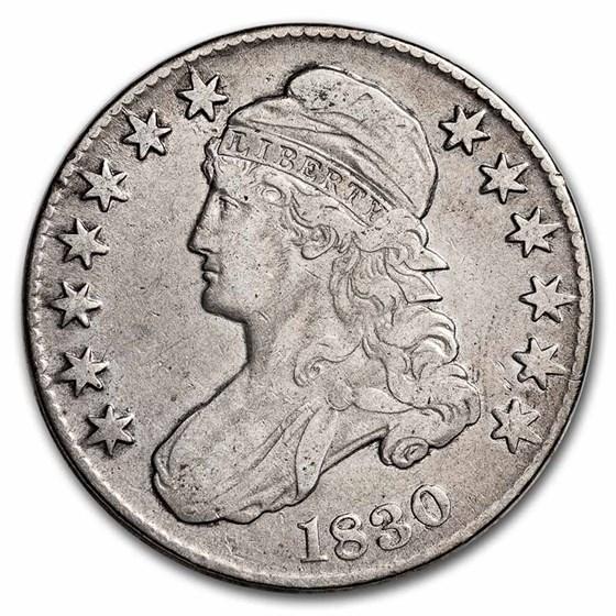 1830 Bust Half Dollar VF (Small 0)