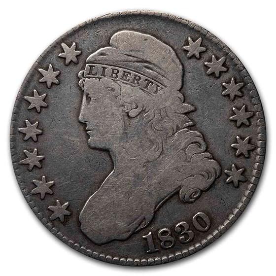 1830 Bust Half Dollar VG (Small 0)