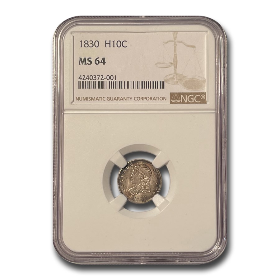 1830 Capped Bust Half Dime MS-64 NGC