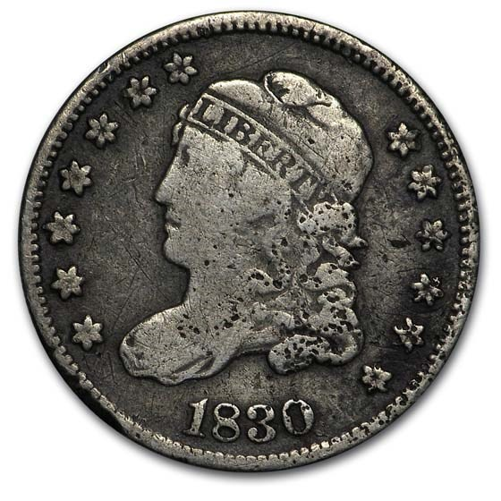 1830 Capped Bust Half Dime VF