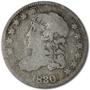 1830 Capped Bust Half Dime VG