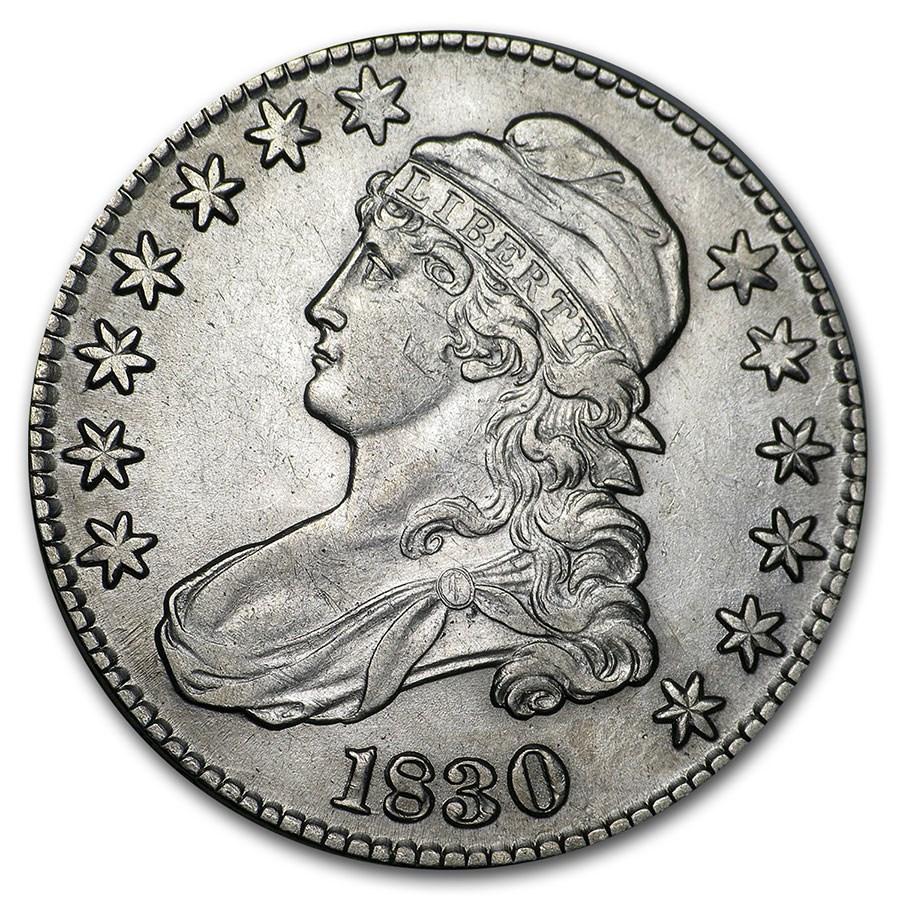 1830 Capped Bust Half Dollar AU