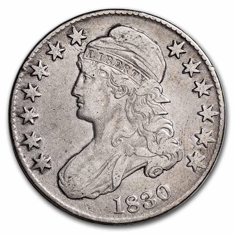 1830 Capped Bust Half Dollar VF