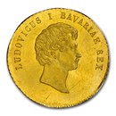 1830 German State Bavaria Gold Ducat Ludwig I MS-62+ NGC (PL)