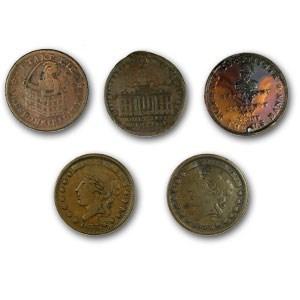 1830s & 40s Hard Times Tokens/Shinplasters Culls