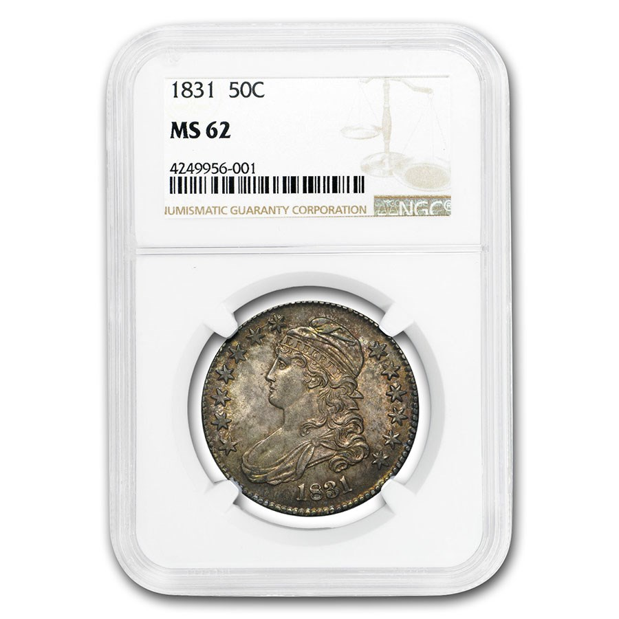1831 Bust Half Dollar MS-62 NGC