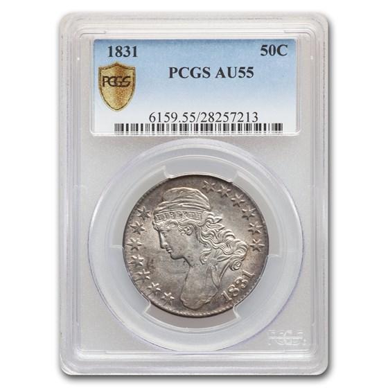 1831 Capped Bust Half Dollar AU-55 PCGS
