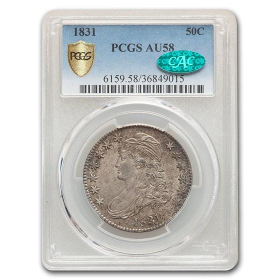 1831 Capped Bust Half Dollar AU-58 PCGS CAC