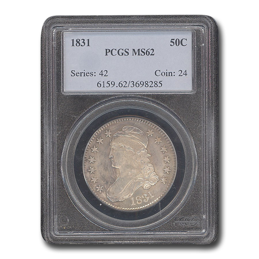 1831 Capped Bust Half Dollar MS-62 PCGS
