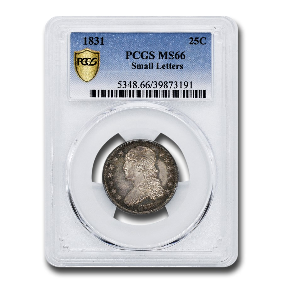 1831 Capped Bust Quarter MS-66 PCGS (Small Letters)