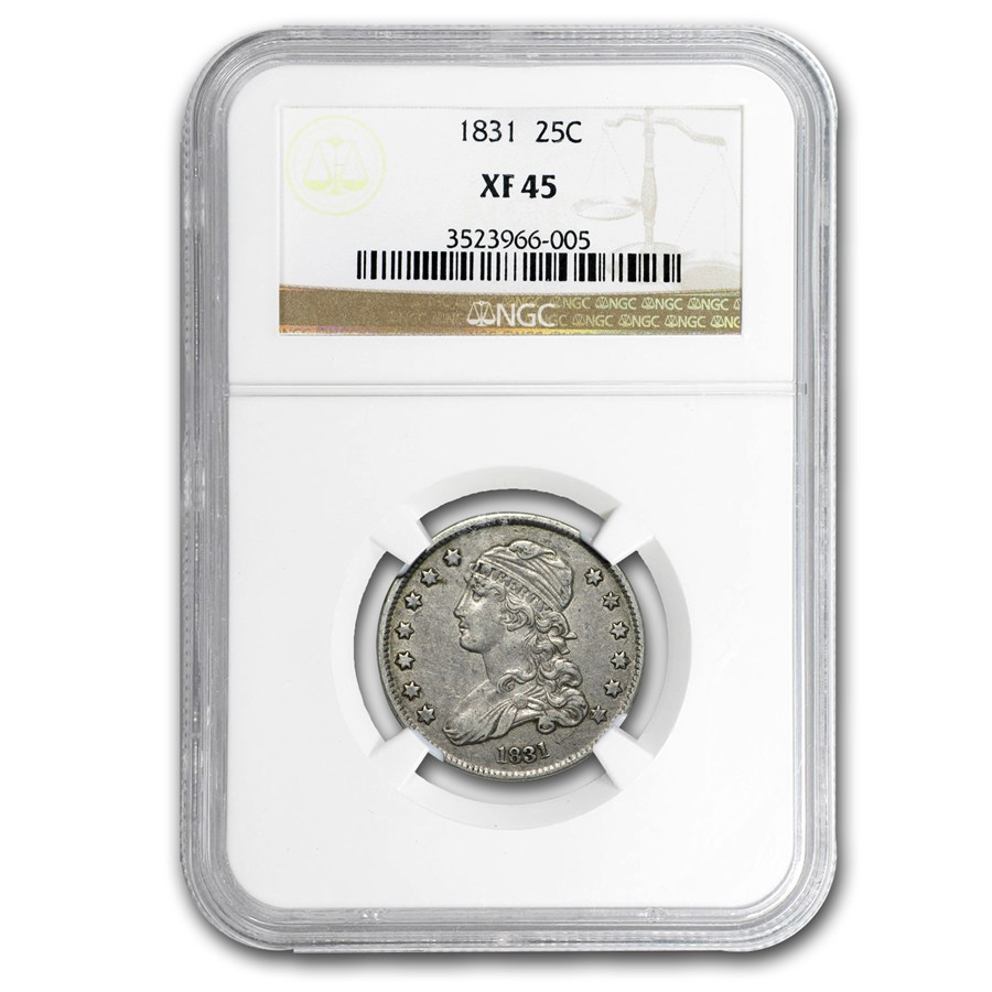 1831 Capped Bust Quarter XF-45 NGC