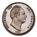 1831 Great Britain Bronzed Copper Penny William IV PR-64 PCGS